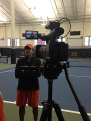 Interviewing Men's Tennis Coach