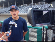Interviewing for the Gateway Grizzlies