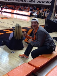 Filming OSU Womens baseketball team for a recp